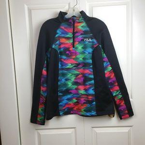 Women's Fila 1/4 Zip Long Sleeve Track Jacket L